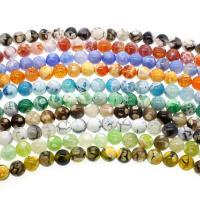 gemischter Achat Perle, rund, verschiedenen Materialien für die Wahl & verschiedene Größen vorhanden, Bohrung:ca. 1mm, verkauft per ca. 14.9 ZollInch Strang