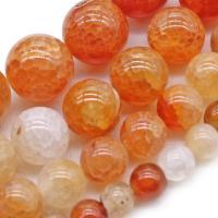 Natürliche Crackle Achat Perlen, Geknister Achat, rund, verschiedene Größen vorhanden, verkauft per ca. 14.9 ZollInch Strang