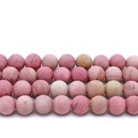 Rhodonit Perlen, rund, verschiedene Größen vorhanden & satiniert, Rosa, verkauft per ca. 14.9 ZollInch Strang