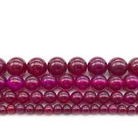 Natürliche Rosa Achat Perlen, rund, verschiedene Größen vorhanden, verkauft per ca. 14.9 ZollInch Strang