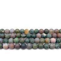 Natürliche Indian Achat Perlen, Indischer Achat, rund, verschiedene Größen vorhanden & satiniert, Bohrung:ca. 1mm, verkauft per ca. 14.9 ZollInch Strang