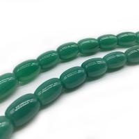 Natürliche grüne Achat Perlen, Grüner Achat, verschiedene Größen vorhanden, grün, Bohrung:ca. 1mm, verkauft per ca. 14.9 ZollInch Strang