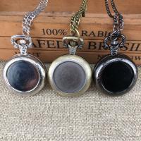 Zinklegierung Halskette Uhr, rund, plattiert, unisex, keine, frei von Nickel, Blei & Kadmium, 13x35mm, Länge:ca. 17.72 ZollInch, verkauft von PC