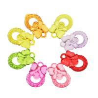 Acryl Anhänger, DIY, gemischte Farben, 27x17x5mm, Bohrung:ca. 2.5mm, ca. 385PCs/Tasche, verkauft von Tasche