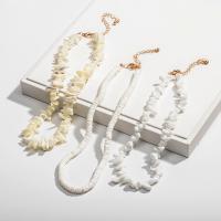 Muschel Halsreif, mit Verlängerungskettchen von 7cm, verschiedene Stile für Wahl & für Frau, verkauft per ca. 13.39 ZollInch Strang