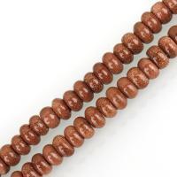 Goldstein Perlen, Goldsand, DIY & verschiedene Größen vorhanden, Bohrung:ca. 1mm, verkauft per ca. 15 ZollInch Strang