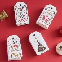 Weihnachtsangebot, Papier, verschiedene Muster für Wahl, 70*40mm, 2SetsSatz/Tasche, 100PCs/setzen, verkauft von Tasche