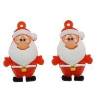Harz Anhänger, Weihnachtsmann, DIY, rot, 39x25x18mm, Bohrung:ca. 2.3mm, 500PCs/Tasche, verkauft von Tasche