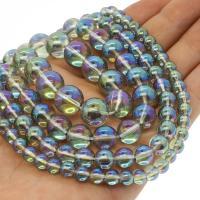 Natürliche klare Quarz Perlen, Klarer Quarz, rund, plattiert, verschiedene Größen vorhanden, farbenfroh, Bohrung:ca. 1mm, verkauft per ca. 14.9 ZollInch Strang
