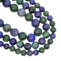 Lapislazuli Perlen, rund, verschiedene Größen vorhanden, gemischte Farben, Bohrung:ca. 1mm, verkauft per ca. 14.9 ZollInch Strang