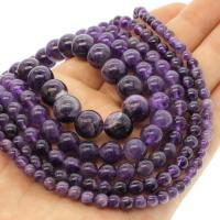 Natürliche Amethyst Perlen, rund, verschiedene Größen vorhanden, violett, Bohrung:ca. 1mm, verkauft per ca. 14.9 ZollInch Strang