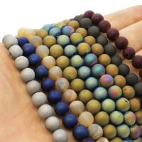 Laugh Rift Achat Perle, rund, plattiert, verschiedene Größen vorhanden, keine, Bohrung:ca. 1mm, verkauft per ca. 14.9 ZollInch Strang