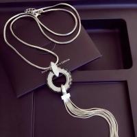 Zinklegierung Pullover Halskette, plattiert, verschiedene Stile für Wahl & für Frau & mit Strass, frei von Nickel, Blei & Kadmium, 78cm, verkauft von Strang