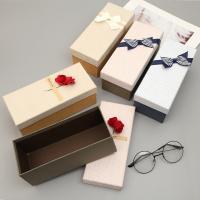 Schmuck Geschenkkarton, Papier, Rechteck, verschiedene Stile für Wahl, 210x90x80mm, 2PCs/Tasche, verkauft von Tasche