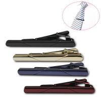 Messing Krawattenklammer, plattiert, für den Menschen, keine, frei von Nickel, Blei & Kadmium, 60x6mm, 20PCs/Menge, verkauft von Menge