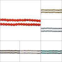 Kristall-Perlen, Kristall, flache Runde, facettierte, mehrere Farben vorhanden, 6x6x4mm, Bohrung:ca. 1mm, ca. 96PCs/Strang, verkauft per ca. 22.8 ZollInch Strang