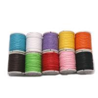 Wachsschnur, Gewachsten Baumwollkordel, gemischte Farben, 1x10000mm, 10Spulen/Menge, verkauft von Menge