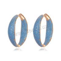 Messing Leverback Ohrring, Messing Hebel Rückseiten Ohrring Haken, plattiert, Micro pave Zirkonia & für Frau, keine, 9x39mm, verkauft von Paar