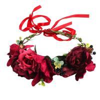 Braut Haarband, Stoff, mit Seidenblume, Hochzeitsgeschenk & für Braut, 175x200mm, verkauft von PC