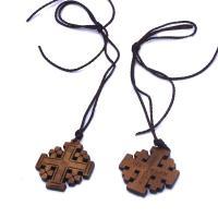 Holz Halskette, mit Gewachsten Baumwollkordel, unisex, frei von Nickel, Blei & Kadmium, 35x40mm, verkauft von Strang