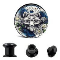 Acryl Piercing Durchstich, unisex & verschiedene Größen vorhanden, schwarz, verkauft von PC