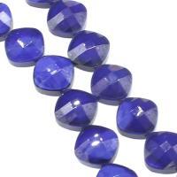Mode Glasperlen, Glas, DIY & facettierte, blau, 15x15x9mm, Bohrung:ca. 1mm, 50PCs/Strang, verkauft von Strang