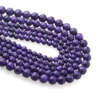 Natürliche Charoit Perlen, rund, poliert, DIY & verschiedene Größen vorhanden, violett, verkauft per ca. 15 ZollInch Strang