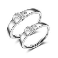 925er Sterling Silber Paar- Ring, verschiedene Stile für Wahl & Micro pave Zirkonia, 5.7x22mm,4.2x20mm, verkauft von PC