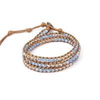 Kristall Armbänder, mit Türkis & Baumwolle Schnur, für Frau, mehrere Farben vorhanden, 52cm, verkauft von PC