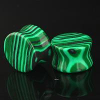 Malachit Piercing Durchstich, unisex & verschiedene Größen vorhanden, grün, verkauft von PC