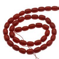 Natürliche Korallen Perlen, Koralle, DIY, rot, 9*6mm, Bohrung:ca. 1mm, ca. 41PCs/Strang, verkauft per ca. 14.9 ZollInch Strang