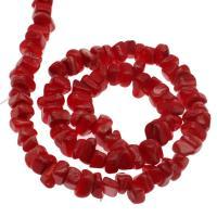 Natürliche Korallen Perlen, Koralle, DIY, keine, 7*4mm-13*3mm, Bohrung:ca. 1mm, verkauft per ca. 14.9 ZollInch Strang