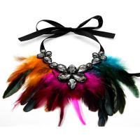 Feder Halskette, mit Nichtgewebte Stoffe & Kristall, Federn, für Frau, keine, 320x160mm, verkauft per ca. 16.9 ZollInch Strang