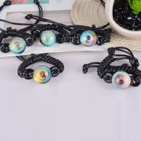 Lampwork Armbänder, mit Gewachste Nylonschnur, unisex & verschiedene Stile für Wahl, verkauft per ca. 7 ZollInch Strang
