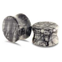 schwarze Seide Stein Piercing Durchstich, unisex & verschiedene Größen vorhanden, verkauft von PC