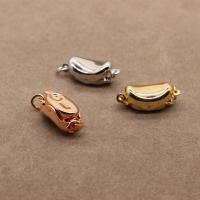 Messing Halskette Zubehöre, Messing Bajonettverschluss, plattiert, DIY, keine, frei von Nickel, Blei & Kadmium, 4x12mm, 50PCs/Menge, verkauft von Menge