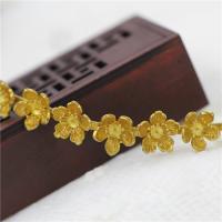 Braut Haar Blumen, Messing, goldfarben plattiert, DIY, frei von Nickel, Blei & Kadmium, 14x100mm, 2PCs/Menge, verkauft von Menge