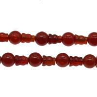 Natürlich rote Achat Perlen, Roter Achat, DIY, rot, 8mm, Bohrung:ca. 1mm, verkauft per ca. 14.9 ZollInch Strang