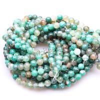 Natürliche grüne Achat Perlen, Feuerachat, rund, poliert, DIY & verschiedene Größen vorhanden, grün, 8mm, verkauft per ca. 15.5 ZollInch Strang