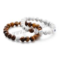 Natürliche Tiger Eye Armband, Tigerauge, mit Türkis, verschiedenen Materialien für die Wahl & unisex, 8mm, 2PCs/Menge, verkauft von Menge
