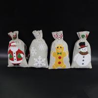 Stoff Christmas Gift Bag, Kunstdruck, 130x230mm, 50PCs/Menge, verkauft von Menge