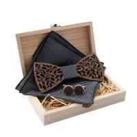 Holz Manschettenknopf & Brosche, mit Stoff, unisex & verschiedene Stile für Wahl, 120x50x4.50mm, verkauft von setzen