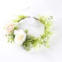 Brautkranz, Stoff, mit Rohrstock, handgemacht, einstellbar & für Frau, grün, 190mm, 2PCs/Menge, verkauft von Menge