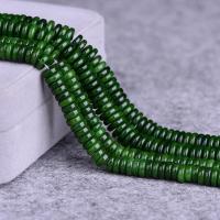 Jade Perlen, Taiwan Jade, poliert, DIY & verschiedene Größen vorhanden, grün, verkauft per ca. 15 ZollInch Strang