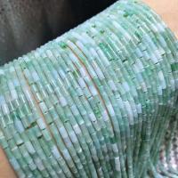 Jadeit Perlen, Zylinder, poliert, DIY, grün, 2x4mm, ca. 95PCs/Strang, verkauft per ca. 15 ZollInch Strang