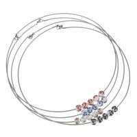 Edelstahl -Kragen-Halskette, mit Porzellan, verschiedene Stile für Wahl & für Frau, originale Farbe, 7x8mm,1.5mm, verkauft von PC