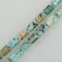 Türkis Perlen, Zylinder, himmelblau, 10x13mm, Bohrung:ca. 1.5mm, ca. 27PCs/Strang, verkauft per ca. 15 ZollInch Strang