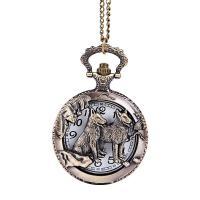 Mode Halskette Uhr, Zinklegierung, mit Kunststoff, plattiert, unisex, antike Bronzefarbe, frei von Nickel, Blei & Kadmium, 46.5cm, verkauft von Strang