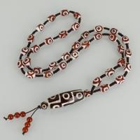 Tibetan Achat Halskette, unisex, 15.5x40.5mm,8.5x12.5mm,99mm, verkauft per ca. 28 ZollInch Strang