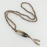 Tibetan Achat Halskette, unisex, 15.5x40mm,6.5x6mm,93mm, verkauft per ca. 25 ZollInch Strang